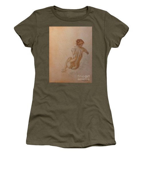 Thoughtful Nude Lady Women's T-Shirt (Athletic Fit)