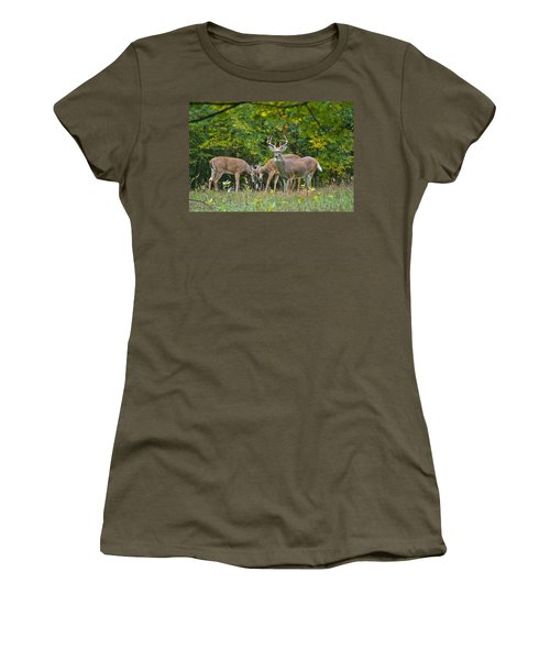 Three Bucks_0054_4463 Women's T-Shirt (Junior Cut) by Michael Peychich