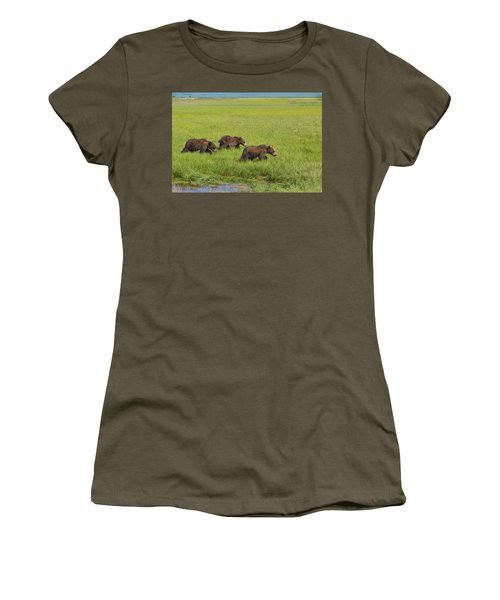 Three Cubs Moving On Women's T-Shirt