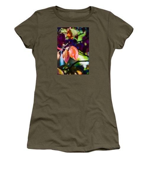 Three Leaves - 9583 Women's T-Shirt (Junior Cut) by G L Sarti