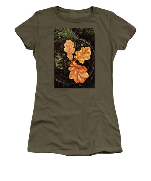 Three Leaves Women's T-Shirt (Athletic Fit)