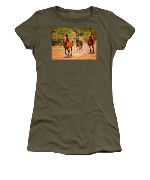 Three Racers Women's T-Shirt (Athletic Fit)