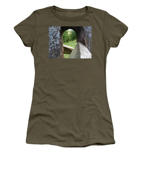 Women's T-Shirt featuring the photograph Through The Post by Robert Knight