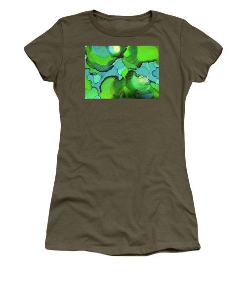 Women's T-Shirt (Athletic Fit) featuring the painting Through The Waters by Michele Myers