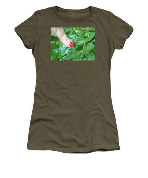 Women's T-Shirt (Athletic Fit) featuring the photograph Thumb Sized by Megan Dirsa-DuBois