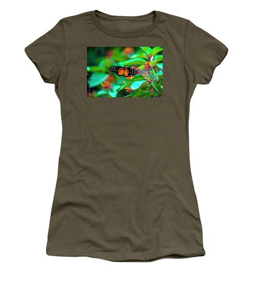 Women's T-Shirt (Junior Cut) featuring the photograph Tiger Longwing Butterfly by David Morefield