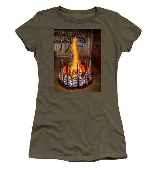 Tillicum Village Salmon Cook Women's T-Shirt