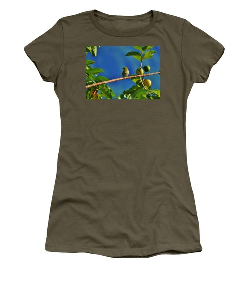 Tiny White Eye And Guava Women's T-Shirt (Athletic Fit)