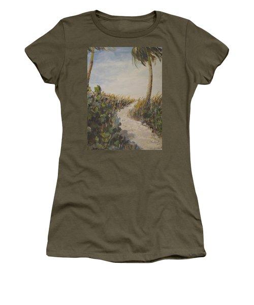 To The Beach Women's T-Shirt (Junior Cut) by Alan Lakin