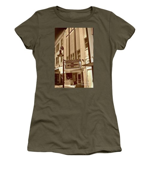 Women's T-Shirt (Junior Cut) featuring the photograph To The Movies by Skip Willits