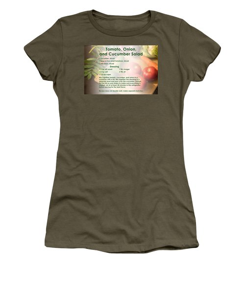 Tomato Onion Cucumber Salad Recipe Women's T-Shirt
