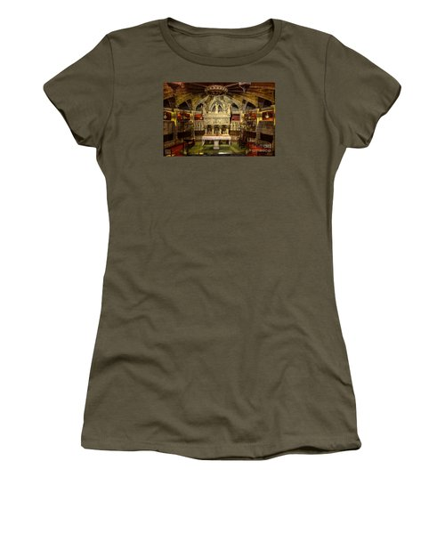 Tomb Of Saint Eulalia In The Crypt Of Barcelona Cathedral Women's T-Shirt (Junior Cut) by RicardMN Photography