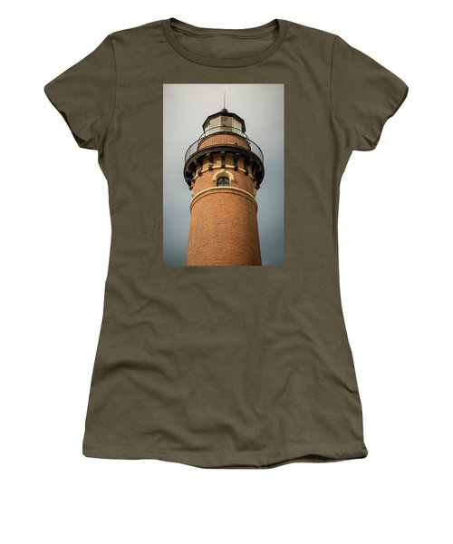 Women's T-Shirt (Athletic Fit) featuring the photograph Top Of Little Sable Point Lighthouse by Adam Romanowicz