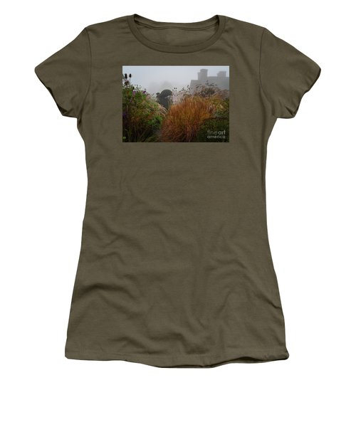 Topiary Peacocks In The Autumn Mist, Great Dixter 2 Women's T-Shirt
