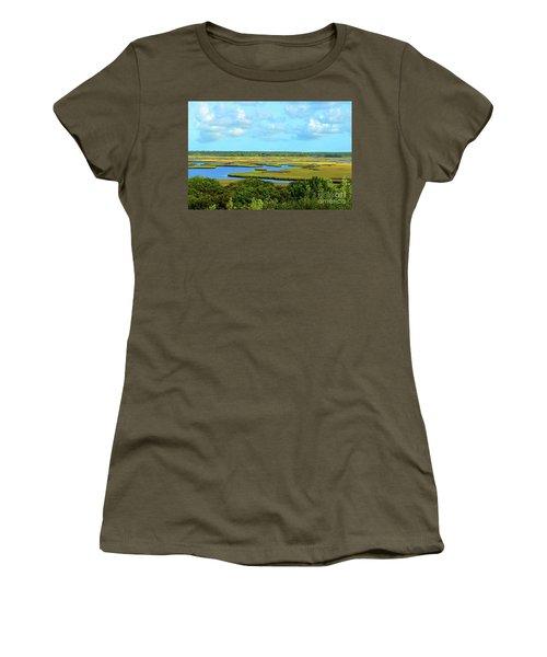 Topsail Island Marshland Women's T-Shirt (Junior Cut)