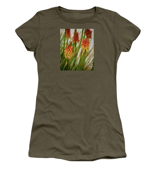 Torch Lily At The Beach Women's T-Shirt (Junior Cut) by Sandi OReilly