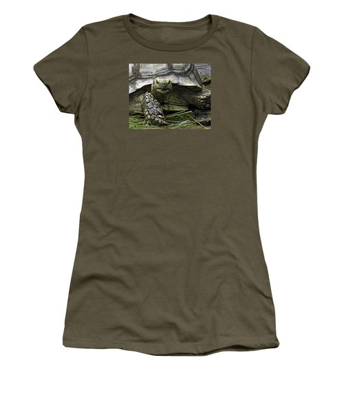 Women's T-Shirt (Junior Cut) featuring the photograph Tortoise's Stare by Betty Denise