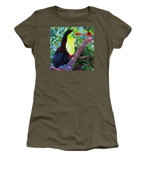 Toucan Portrait 2 Women's T-Shirt (Athletic Fit)