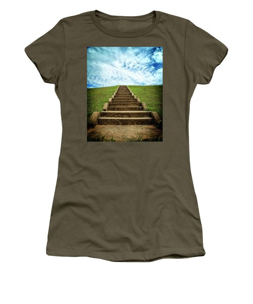 Women's T-Shirt (Athletic Fit) featuring the photograph Touch The Sky by Alan Raasch