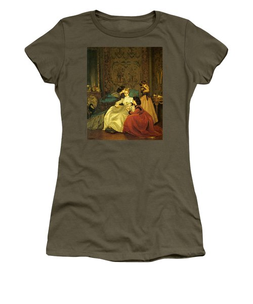 Toulmouche Auguste The Reluctant Bride Women's T-Shirt (Junior Cut) by Auguste Toulmouche