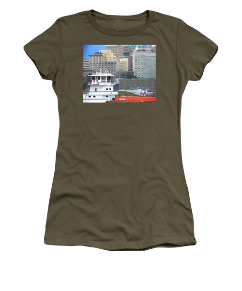 Towboat Robt G Stone At Memphis Tn Women's T-Shirt (Athletic Fit)
