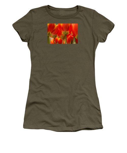 Women's T-Shirt (Athletic Fit) featuring the photograph Towering Tulips  by Julie Andel