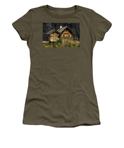 Traditional Austrian Wooden House Women's T-Shirt