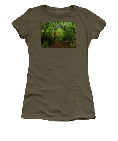 Trailside Bench Women's T-Shirt (Athletic Fit)