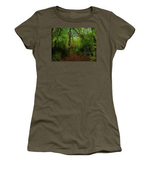 Trailside Bench Women's T-Shirt (Athletic Fit)