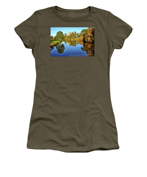 Women's T-Shirt (Junior Cut) featuring the photograph Tranquil River By Kaye Menner by Kaye Menner