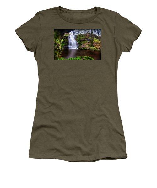 Tranquil Slow Soft Waterfall Women's T-Shirt