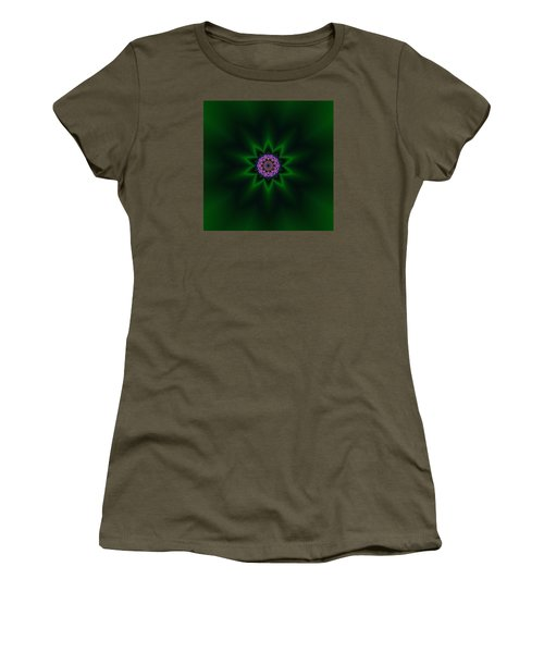 Women's T-Shirt featuring the digital art Transition Flower 10 by Robert Thalmeier