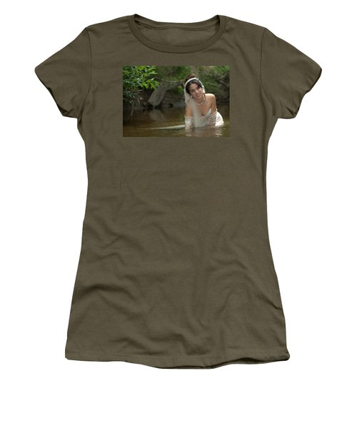 Women's T-Shirt featuring the photograph Trash The Dress by John King