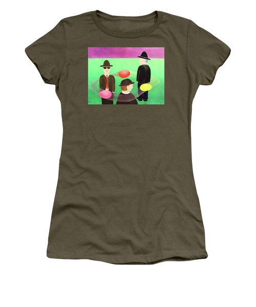 Women's T-Shirt (Junior Cut) featuring the painting Traveling In The Right Business Circles by Thomas Blood