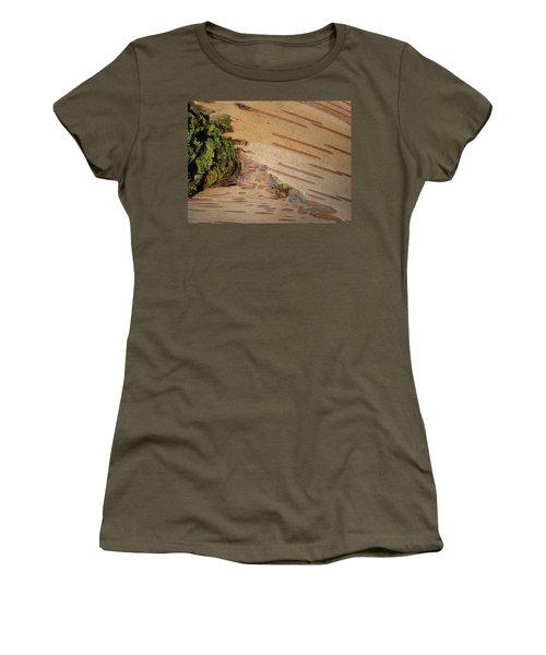 Tree Bark With Lichen Women's T-Shirt (Junior Cut) by Margaret Brooks