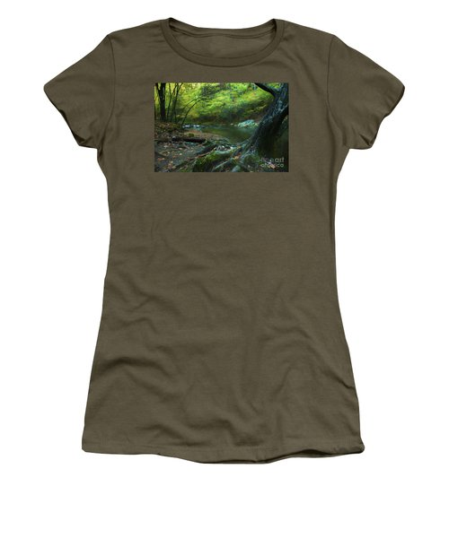 Tree By Water Women's T-Shirt (Junior Cut) by Lena Auxier