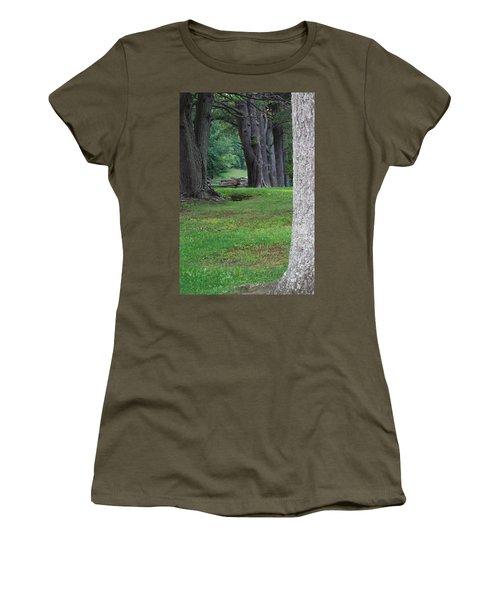 Women's T-Shirt (Junior Cut) featuring the photograph Tree Line by Eric Liller