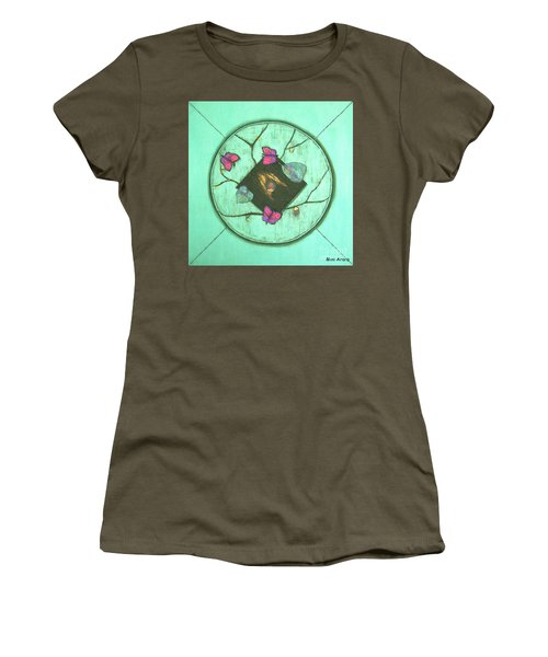 Women's T-Shirt (Junior Cut) featuring the painting Tree Of Life by Mini Arora