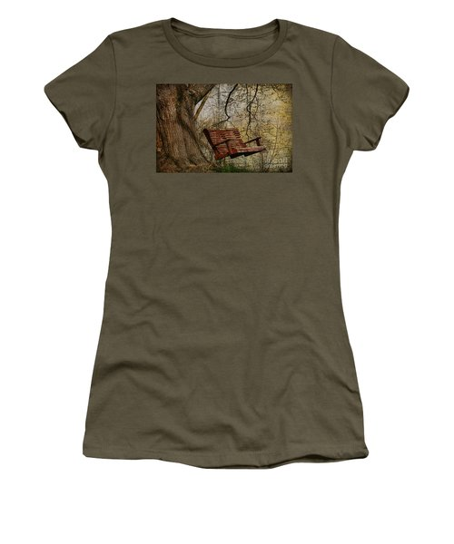 Tree Swing By The Lake Women's T-Shirt (Athletic Fit)