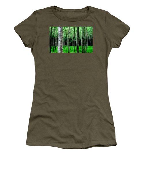 Trees In Rows Women's T-Shirt