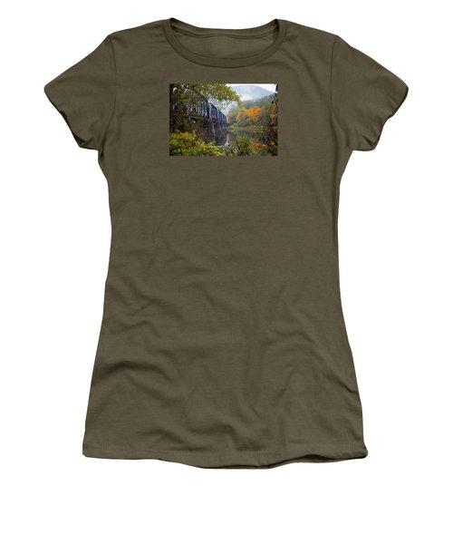Trestle In Autumn Women's T-Shirt (Junior Cut) by Hugh Smith