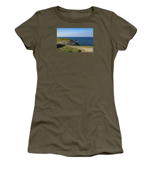 Trevose Headland Women's T-Shirt (Junior Cut) by Brian Roscorla