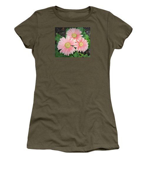 Women's T-Shirt (Junior Cut) featuring the photograph Trio Of Gerbers by Jeanette Oberholtzer