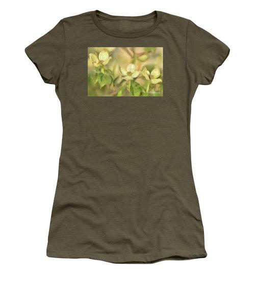 Triple Dogwood Blossoms In Evening Light Women's T-Shirt (Junior Cut) by Lois Bryan