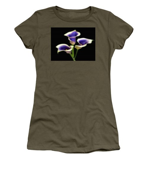 Triple Royal Floral Women's T-Shirt