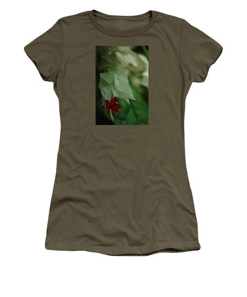 Women's T-Shirt (Junior Cut) featuring the photograph Tropical Bleeding Heart by Ramona Whiteaker