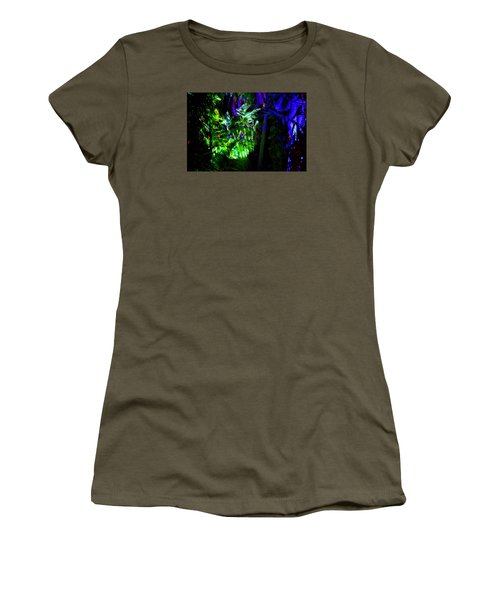 Women's T-Shirt (Junior Cut) featuring the photograph Into The Psychedelic Jungle by Richard Ortolano
