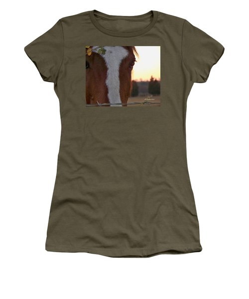 Women's T-Shirt (Junior Cut) featuring the photograph Trusting by Betty Northcutt