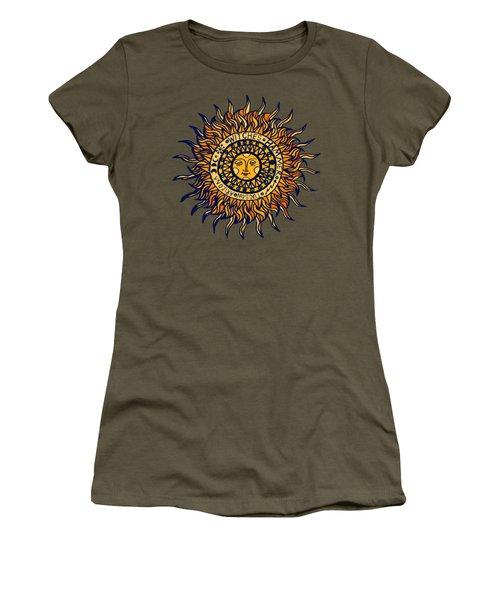 Tucson  Arizona Del Sol Women's T-Shirt (Junior Cut) by Vagabond Folk Art - Virginia Vivier