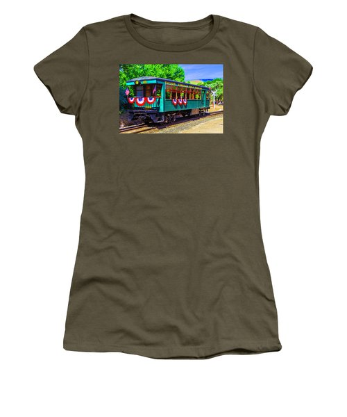 Tucson Cornelia And Gila Bend R R Train Car Women's T-Shirt (Athletic Fit)